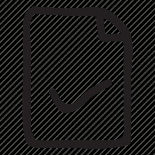 check, document, documentation, documentfile, documentrecord, file, recordfiles icon