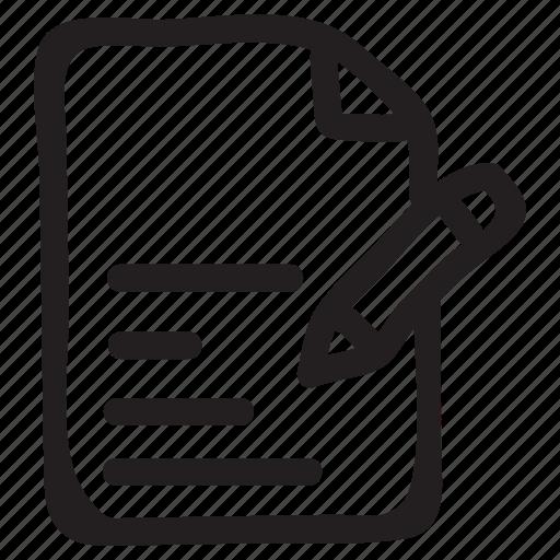 content, document, documentation, documentfile, documentrecord, edit, file icon