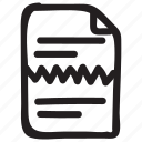 break, document, documentation, documentfile, documentrecord, file, recordfiles icon