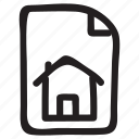 document, documentation, documentfile, documentrecord, file, home, recordfiles icon