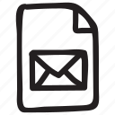 document, documentation, documentfile, documentrecord, file, mail, recordfiles icon