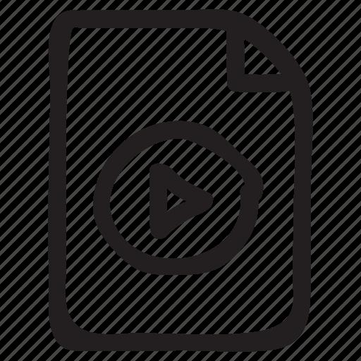 document, documentation, documentfile, documentrecord, file, play, recordfiles icon