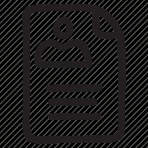 document, documentation, documentfile, documentrecord, file, profile, recordfiles icon