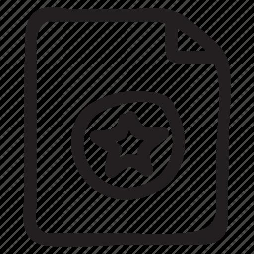 document, documentation, documentfile, rating, recordfiles, star icon