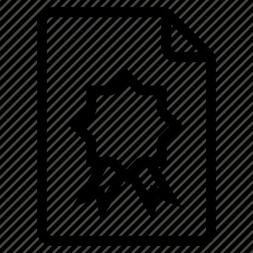 badge, document, documentation, documentfile, documentrecord, file, recordfiles icon