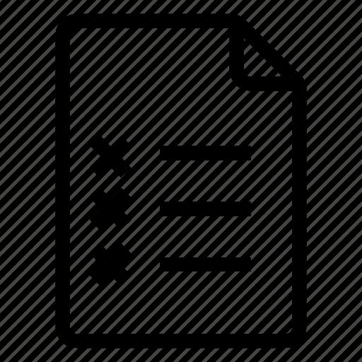 checklist, document, documentation, documentfile, documentrecord, file, recordfiles icon