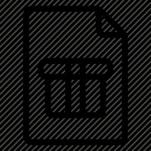document, documentation, documentfile, documentrecord, file, gift, recordfiles icon
