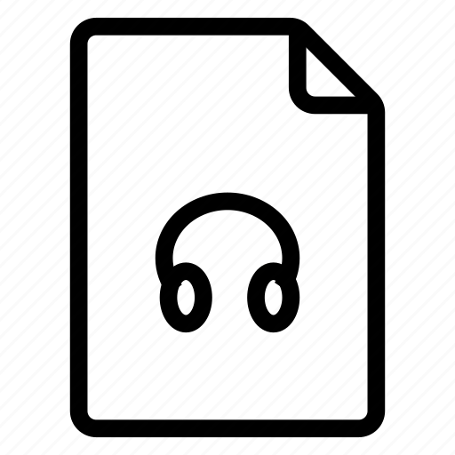 document, documentation, documentfile, documentrecord, file, headphone, recordfiles icon