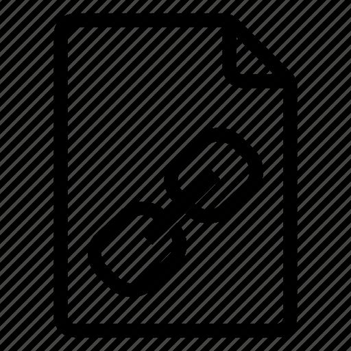 document, documentation, documentfile, documentrecord, file, link, recordfiles icon