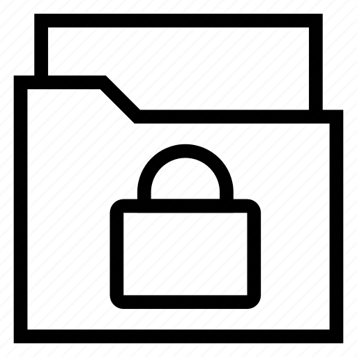 directory, document, documentcase, filescatalog, folder, lock, portfolio icon