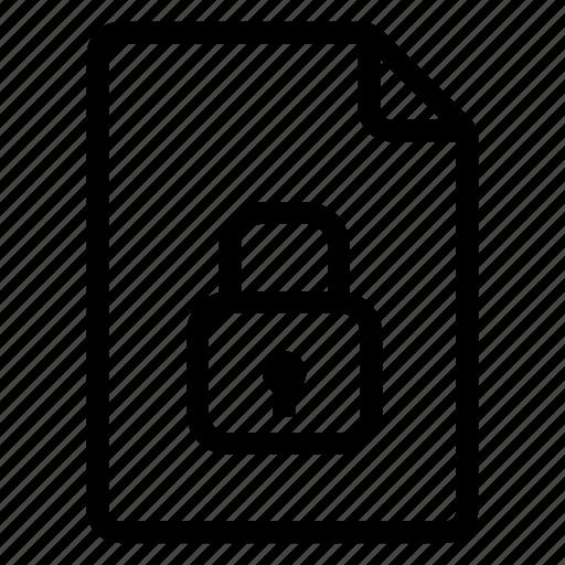 document, documentation, documentfile, documentrecord, file, lock, recordfiles icon