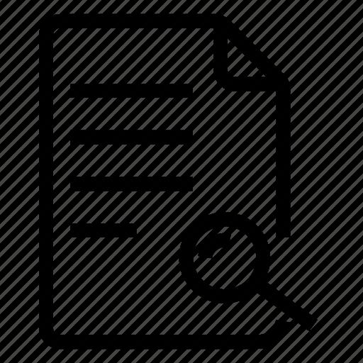 document, documentation, documentfile, documentrecord, file, recordfiles, search icon