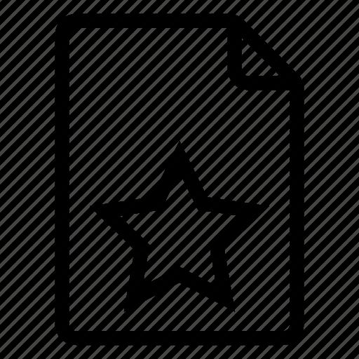 document, documentation, documentfile, documentrecord, file, recordfiles, star icon