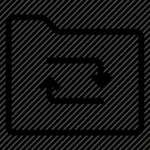 directory, documentcase, filescatalog, folder, jacket, portfolio, refresh icon
