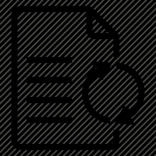 document, documentation, documentfile, documentrecord, file, recordfiles, reload icon
