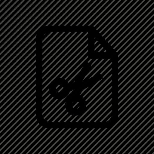 archive file, cut, cut file, file, file cut, scissor, scissor icon icon