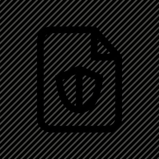 file, file lock, file protect, file secure, protect, protected file, shield icon icon