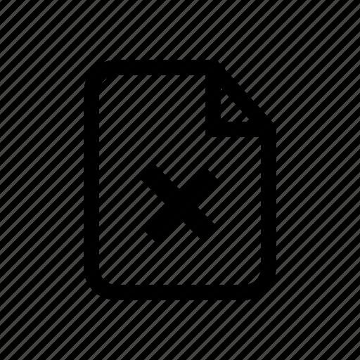 dismiss file, file, file delete, file reject, reject, reject file, remove file icon