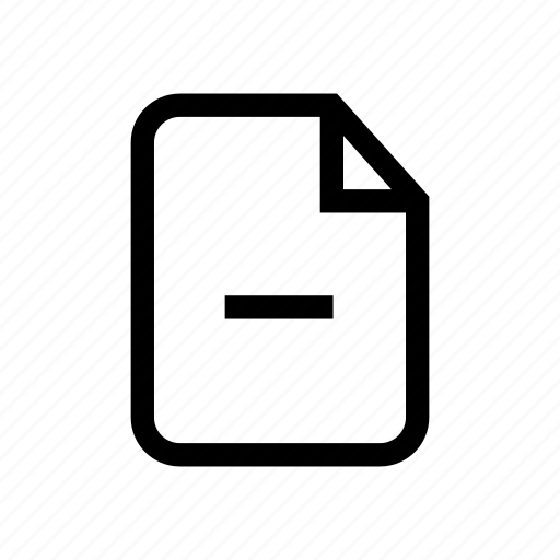 delete file, file, file delete, file remove, minus icon, remove, remove file icon