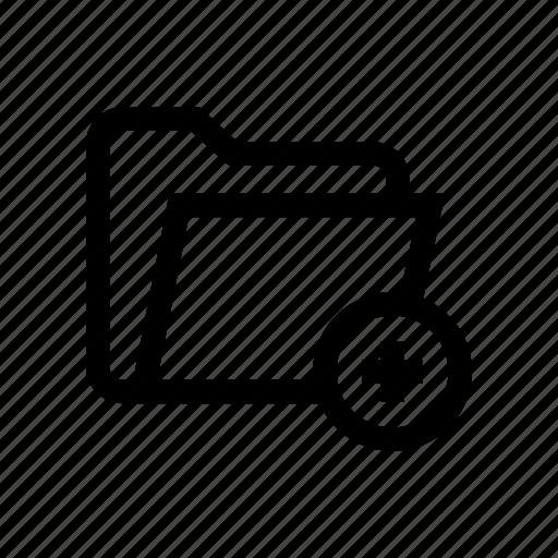 add, add folder, folder, folder add, folder plus, more folder, new folder icon
