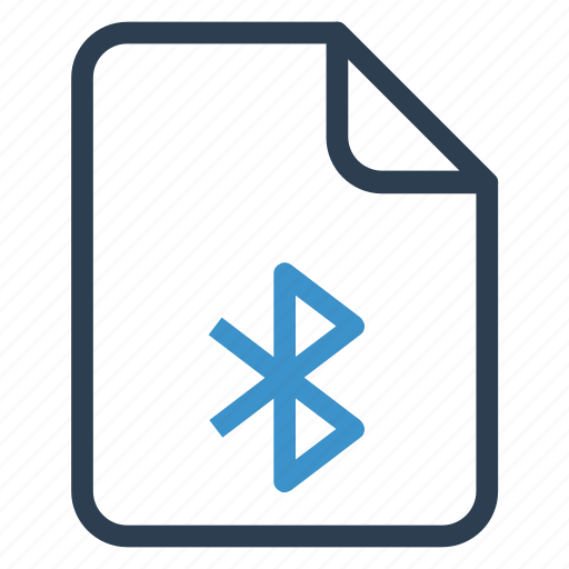 bluetooth, document, documentation, file, paper, record, sheet icon
