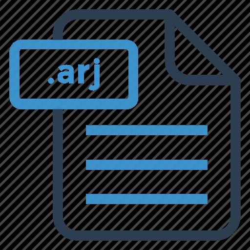 arj, document, documentation, file, paper, record, sheet icon