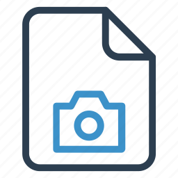camera, document, documentation, file, paper, record, sheet icon