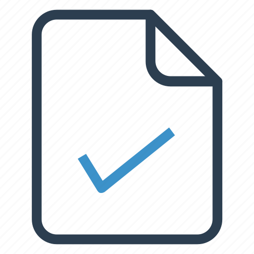 check, document, documentation, file, paper, record, sheet icon