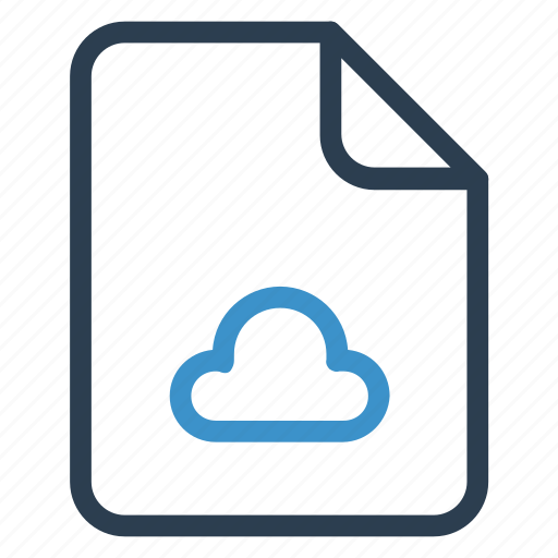 cloud, document, documentation, file, paper, record, sheet icon