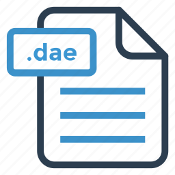 dae, document, documentation, file, paper, record, sheet icon