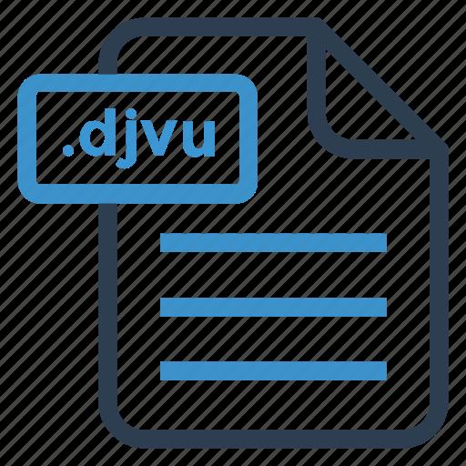 djvu, document, documentation, file, paper, record, sheet icon