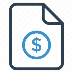 document, documentation, dollar, file, paper, record, sheet icon