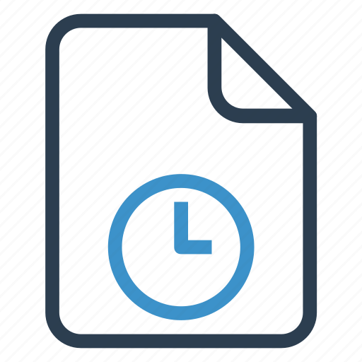 document, documentation, file, paper, record, sheet, watch icon