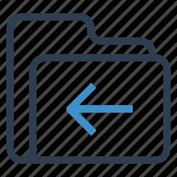 archive, back, data, folder, storage icon