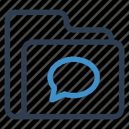 archive, bubblechat, data, folder, storage icon