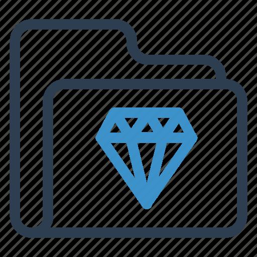 archive, data, diamond, folder, storage icon