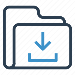 archive, data, downlaod, folder, storage icon