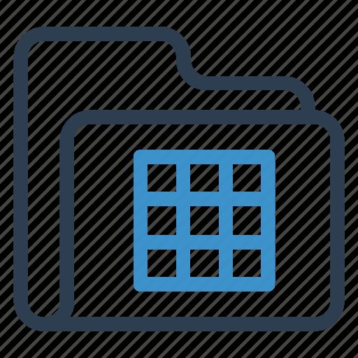 archive, data, excelsheet, folder, storage icon