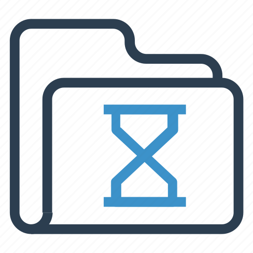 archive, data, folder, hourglass, storage icon