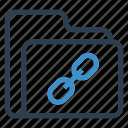 archive, data, folder, link, storage icon