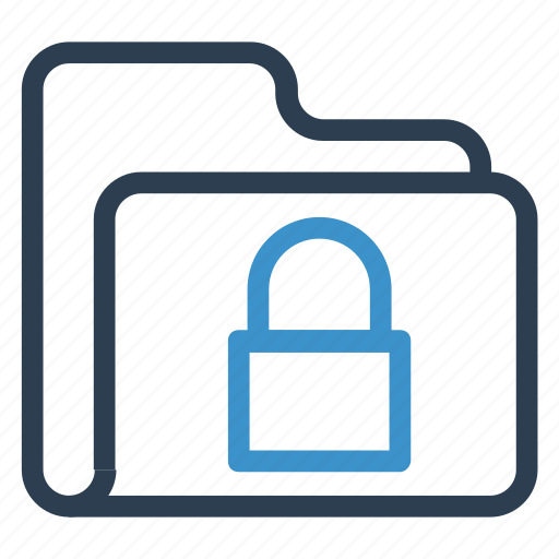 archive, data, folder, lock, storage icon