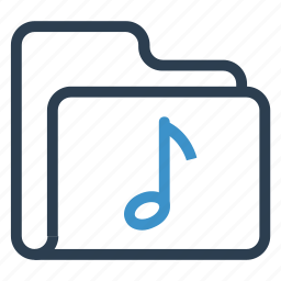 archive, data, folder, music, storage icon