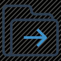 archive, data, folder, next, storage icon