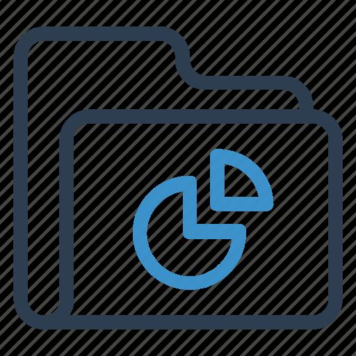 archive, data, folder, piegraph, storage icon
