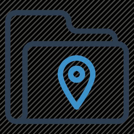 archive, data, folder, pin, storage icon