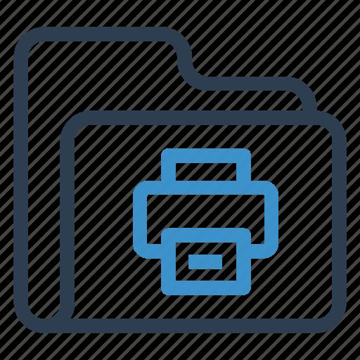archive, data, folder, print, storage icon