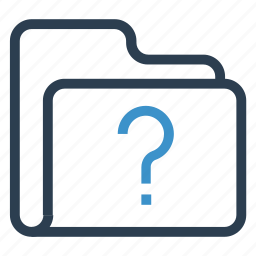 archive, data, folder, question, storage icon