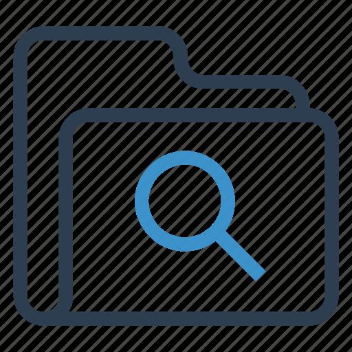 archive, data, folder, search, storage icon