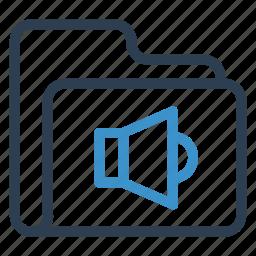 archive, data, folder, sound, storage icon