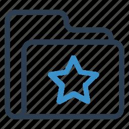 archive, data, folder, star, storage icon